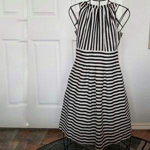 Nine West black and white stripe dress